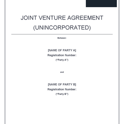 Joint Venture Agreement Precedent