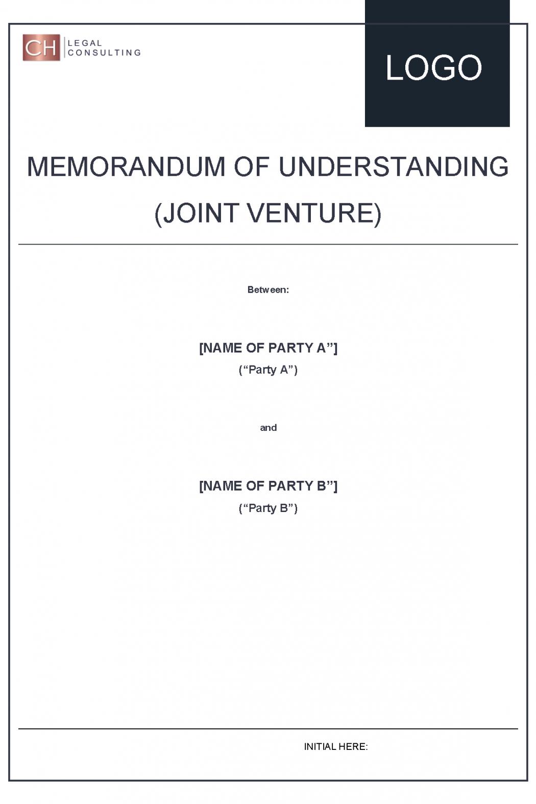 Memorandum of Understanding (Joint Venture)