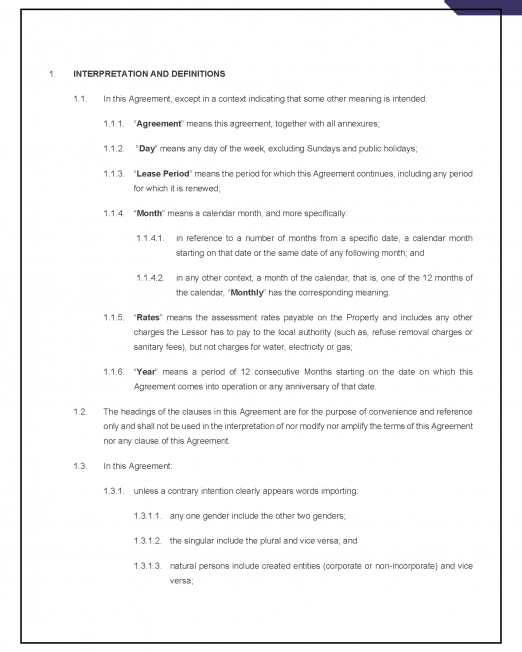 Lease Agreement (Residential) Precedent_Page_02