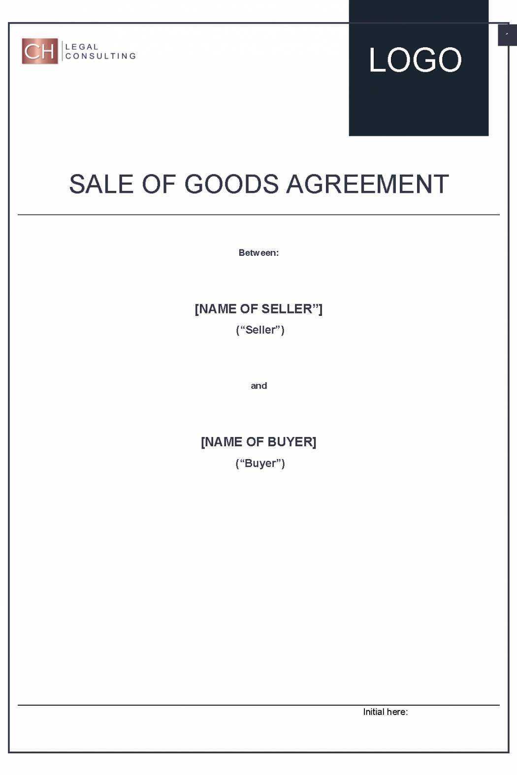 Sale of Goods Agreement