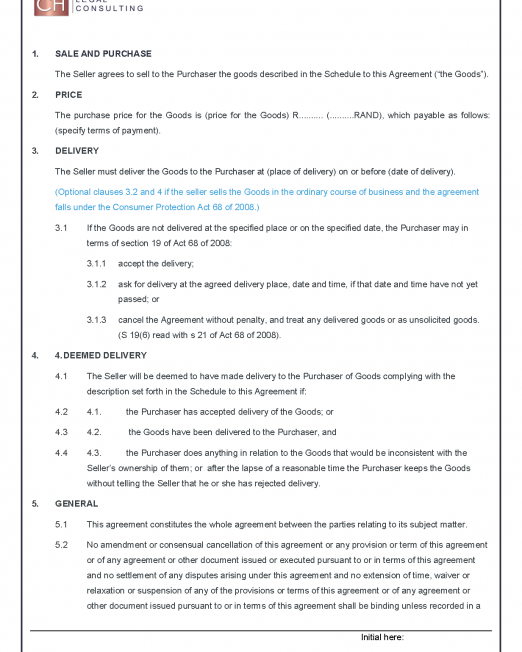 Sale of Goods Agreement Precedent_Page_2