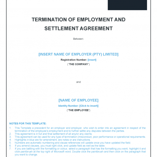 Termination of Employment Agreement
