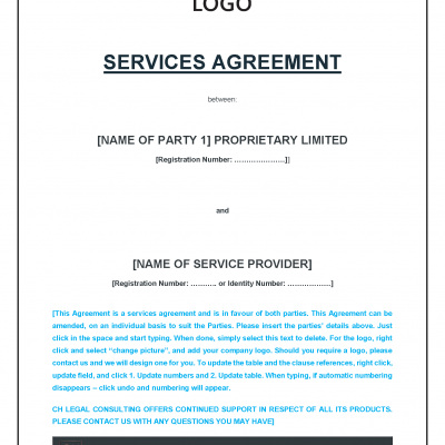 Service Provider Agreement Precedent