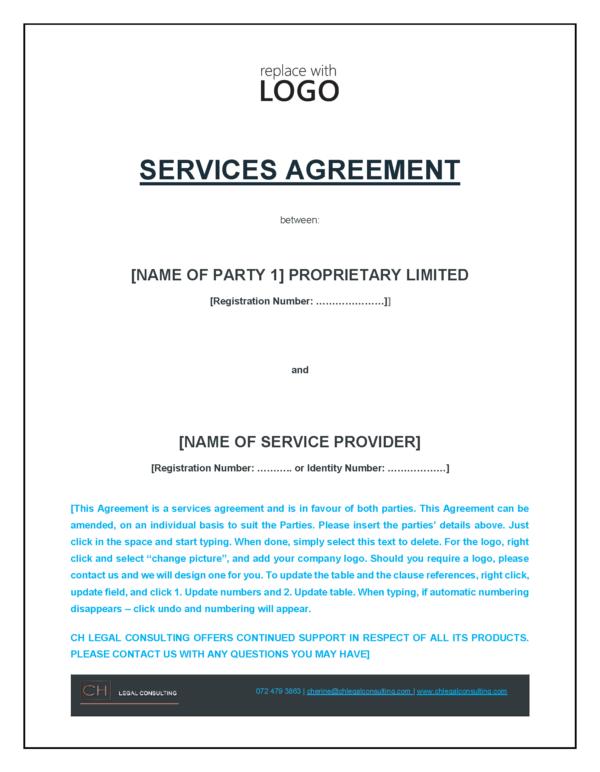 Service Provider Agreement Precedent