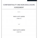 non disclosure agreement precedent