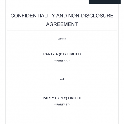 non disclosure agreement precedent