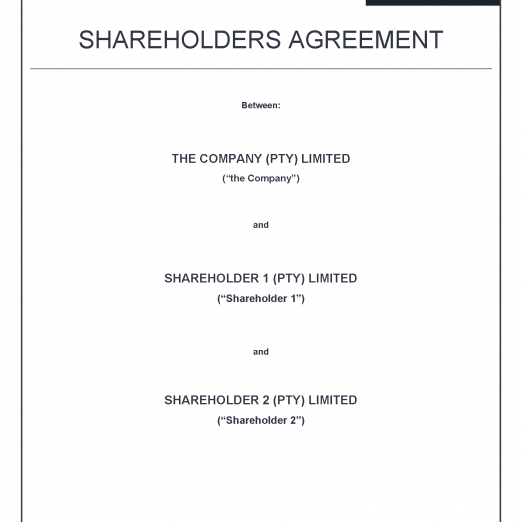 Shareholders Agreement