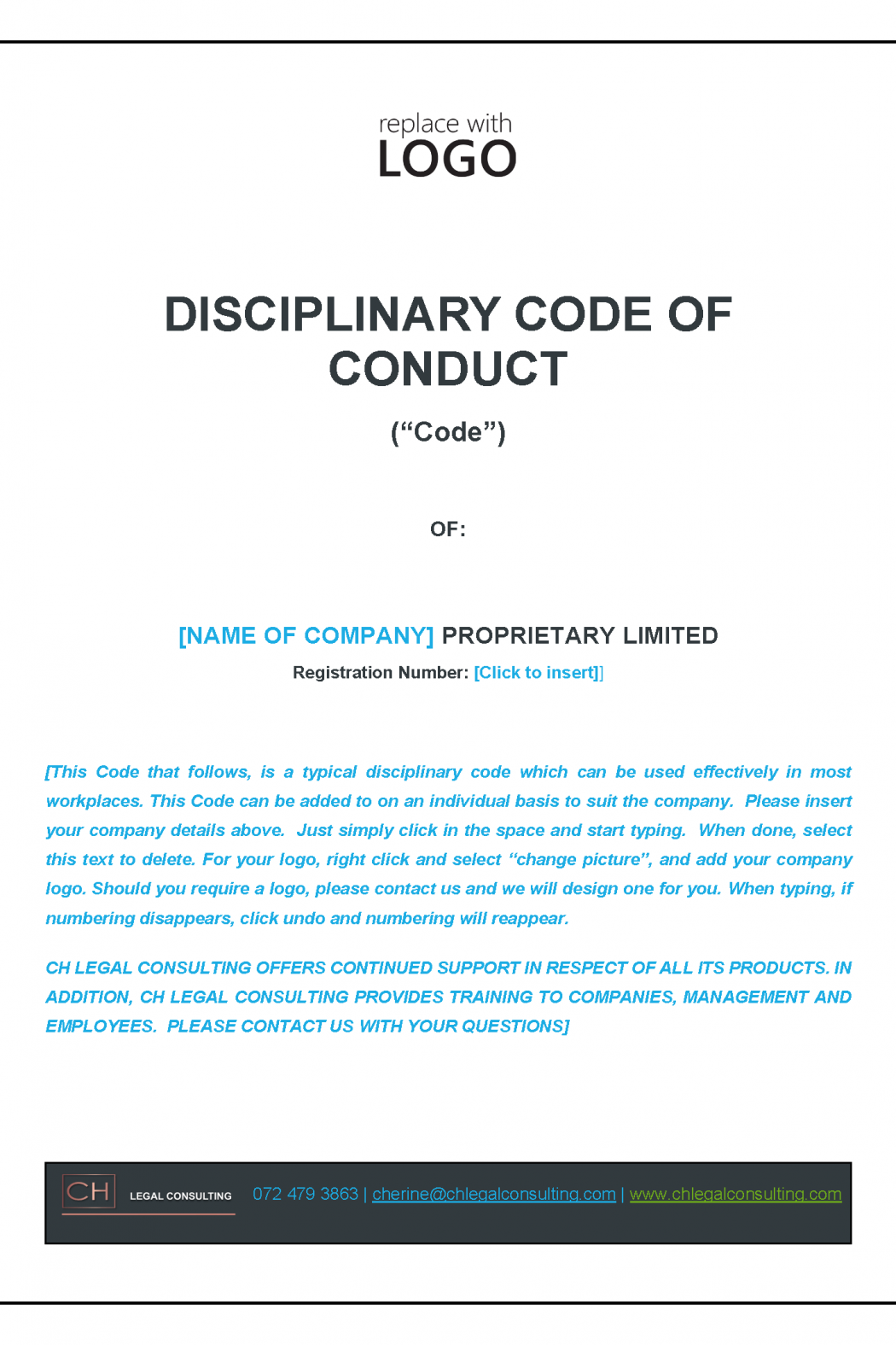 Disciplinary Code Precedent