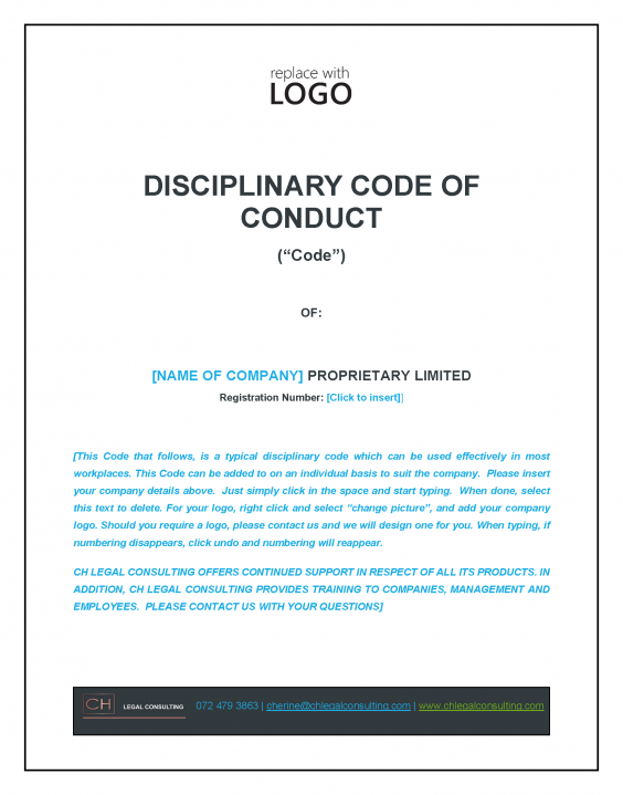Disciplinary Code of Conduct Precedent