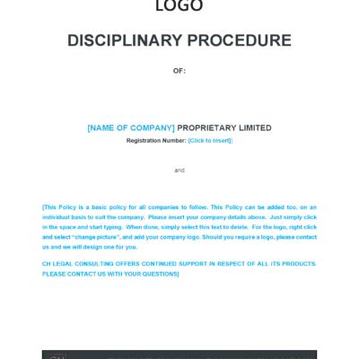 Disciplinary Procedure Precedent