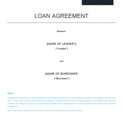 Loan Agreement Precedent