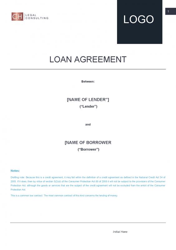 Loan Agreement Precedent