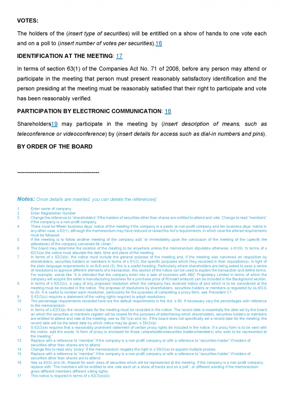 Notice of GM page 2