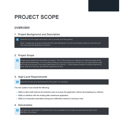Project Scope Precedent