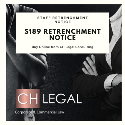 s189 Retrenchment notice precedent