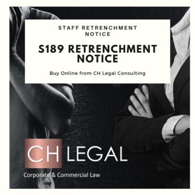 s189 Retrenchment notice precedent