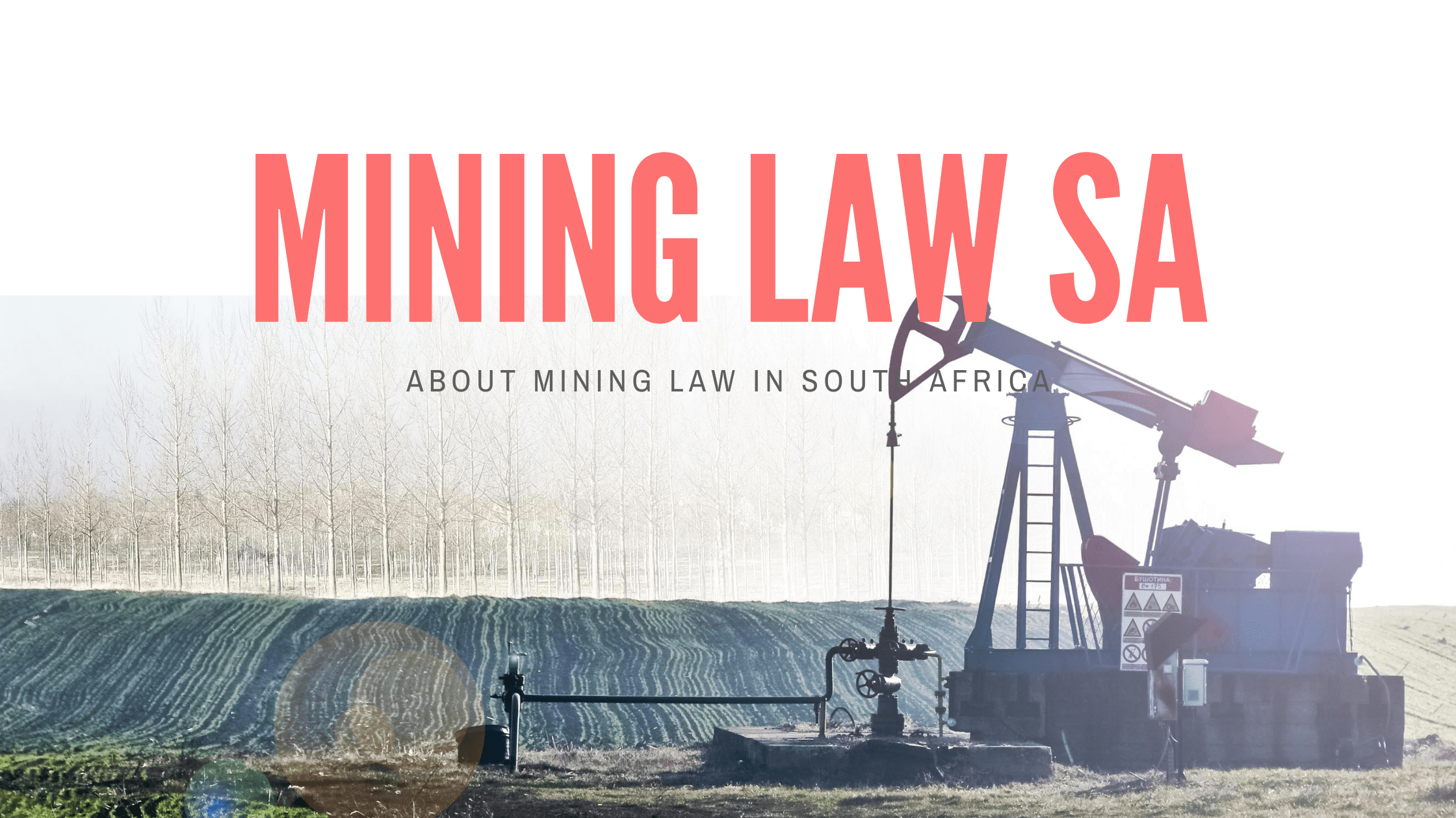 Mining Law South Africa